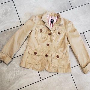 Khaki Button Up Blazer/Jacket